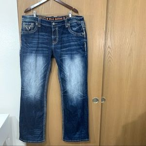 Rock Revival Pevey Relaxed Straight Jean Stonewash